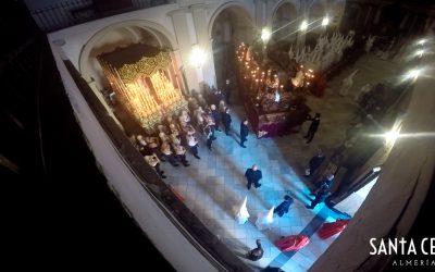 En vídeo, la salida de la cofradía desde el interior de San Pedro