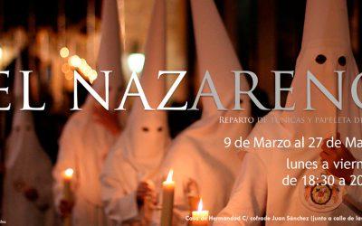 SUSPENDIDO: Reparto de papeletas de sitio y alquiler de túnicas para el Domingo de Ramos 2020