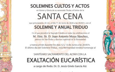 Solemne Triduo en honor al Señor de la Santa Cena 2020