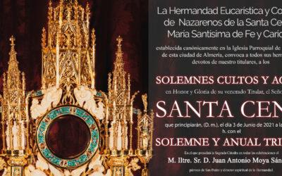 Solemne Triduo en honor al Señor de la Santa Cena 2021