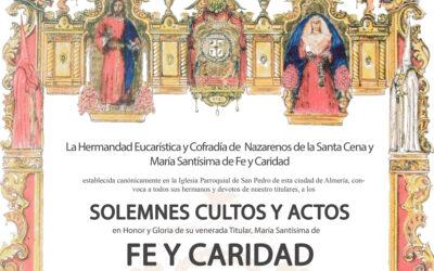 Solemne Triduo en honor de María Santísima de Fe y Caridad 2021