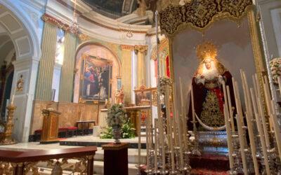 El altar del Triduo a María Santísima de Fe y Caridad, al detalle