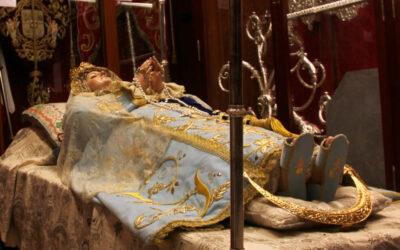 La Virgen del Tránsito, en nuestra Casa de Hermandad durante las obras de San Agustín